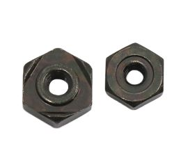 BLACK ZINC CR3 HEX WELD NUT 1A TYPE